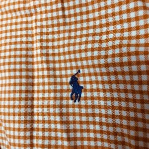 Polo by Ralph Lauren Shirts - Men's Orange and white gingham button down Polo